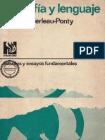 Merleau-Ponty - Filosofía y Lenguaje. Seminarios.