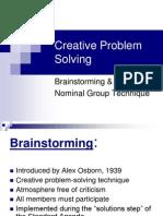 Brainstorming NGT Creative Problem Solving