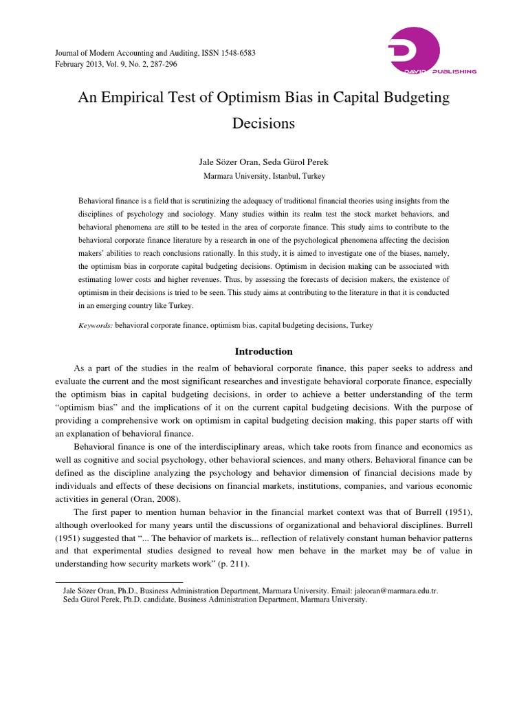 budgeting document