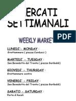 mercati settimanali