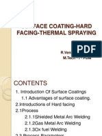 Surface Coating Hard Facing Thermal Spraying