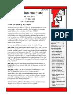 Intermediate Elementary Newsletter