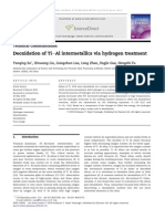 Deoxidation of TieAl Intermetallics via Hydrogen Treatment
