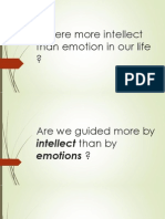 Intellect and Emotion