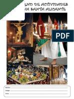 Cuaderno de Actividades Semana Santa Alicante