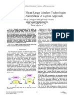 Applications of Short-Range Wireless Technologies to Industrial Automation a ZigBee Approach