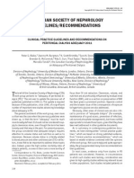 Clinical Practice Guidelines and Recommendations on Peritoneal Dialysis Adequacy 2011