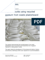 Report - Plaster Moulds Using Recycled Gypsum From Waste Plasterboard