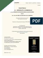 Rudolf Steiner - Omul in legatura sa cu Cosmosul (Vol. 1)