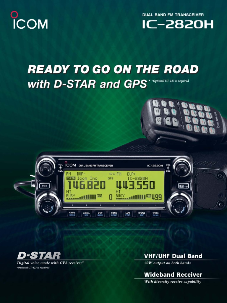 Icom Ic 2820h Brochure Very High Frequency Ultra Rig 2300h
