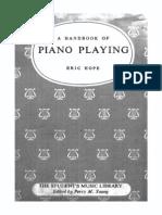 Handbook of Piano Playing