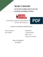 Hero Honda Research Project