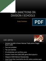 ncaa sanctions on d-i schools