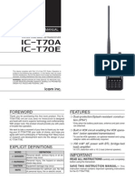 ICOM IC-T70A Instruction Manual