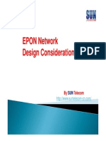 EPON Network Design Considerations