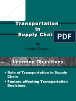 Trans Por at Ion in Supply Chain