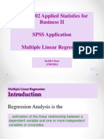 SPSS Multiple Linear Regression(2)
