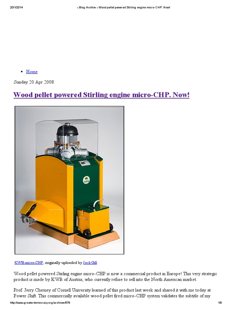 Blog Archive » Wood Pellet Powered Stirling Engine Micro-CHP ...