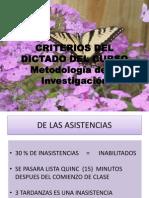 Criterios Para El Curso Metinc