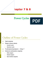 Chapter 7 and 8 (Power Cycles)