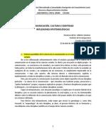 COMUNICACIÓN, CULTURA E IDENTIDAD REFLEXIONES EPISTEMOLÓGICAS - Dr. Gilberto Gimenez