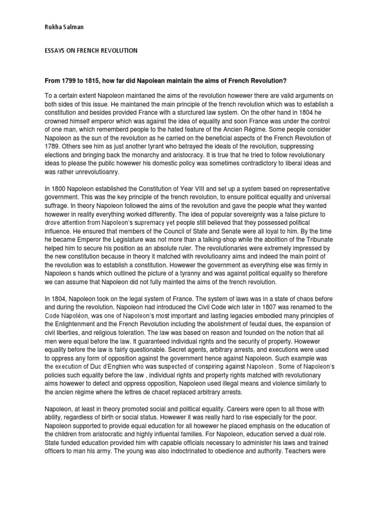 french and russian revolutions essay example The french and the russian revolutions are very similar and  for example, the french revolution encouraged  french and russian revolution essay.