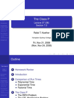 Lecture 38 - The Class P
