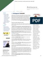 AUTOGENNÍ TRÉNINK _ Jak Relaxovat, Popis a Nahrávka Autogenního Tréninku v Mp3 Ke Stažení