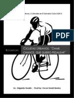 Reportaje Ciclistas Urbanos, Por Oscar Berrios, Politicas Informativas y Culturales.