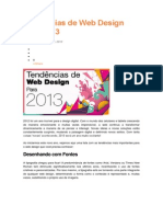 Tendências de Web Design Para 2013