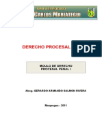 MODULO Derecho Procesal Penal I