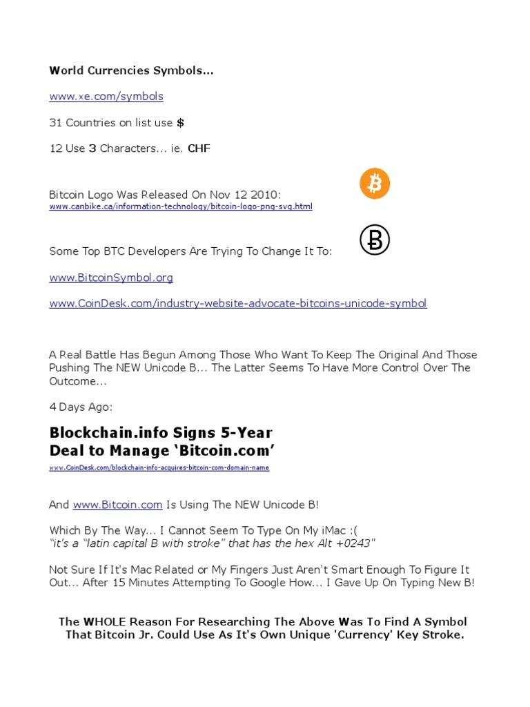 The Right Font for Bitcoin Jr. Logo & Symbol (1 ...
