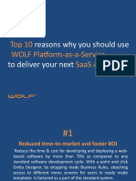 Top 10 Reasons why you should use WOLF PaaS to deliver your next SaaS Application