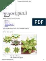 Origami Star Corona by Maria Sinayskaya - Diagram