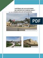 Evolucion Historica de Las Elecciones Municipales Del Distrito de Chincha Baja y Su Implicancia e - Copia
