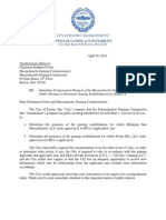 City of Boston Letter to Massachusetts Gaming Commission (4.30.2014)