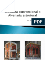 Alvenaria Convencional x Estrutural