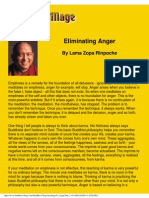 Lama Zopa Rinpoche, Eliminating Anger