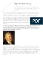 Samuel Taylor Coleridge - Free Online Library