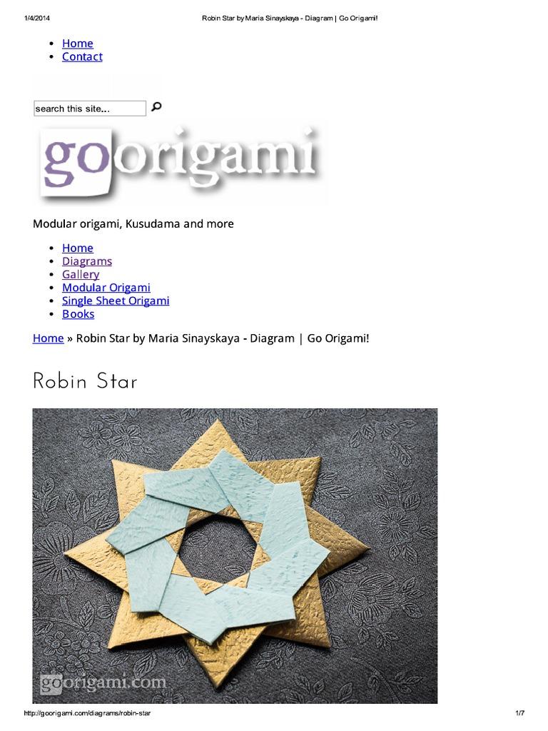 Tutorial: 8 Part Origami Robin Star – Lyric Art | 1024x768