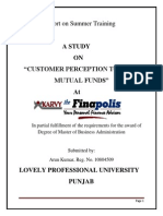 Customer Perception Towards Mutual Funds