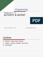 Mobile programming bab3 and 4