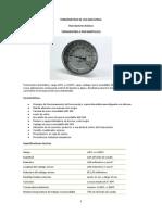 Termometros de Uso Industrial Especificaciones