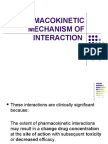 Pharmacokinetic Mechanism of Interaction