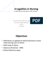 Ethics Legalities