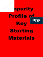 Impurity Profile of Key Starting Materials
