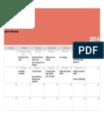 unit overview calendar