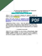 Regulamentul Concursului National de Traduceri Corneliu M Popescu 2014