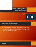 racialized immigrant stereotypes powerpoint final