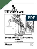 Power Circuit Breaker Maintenance